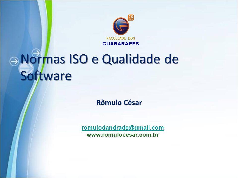 Normas ISO e Qualidade de Software