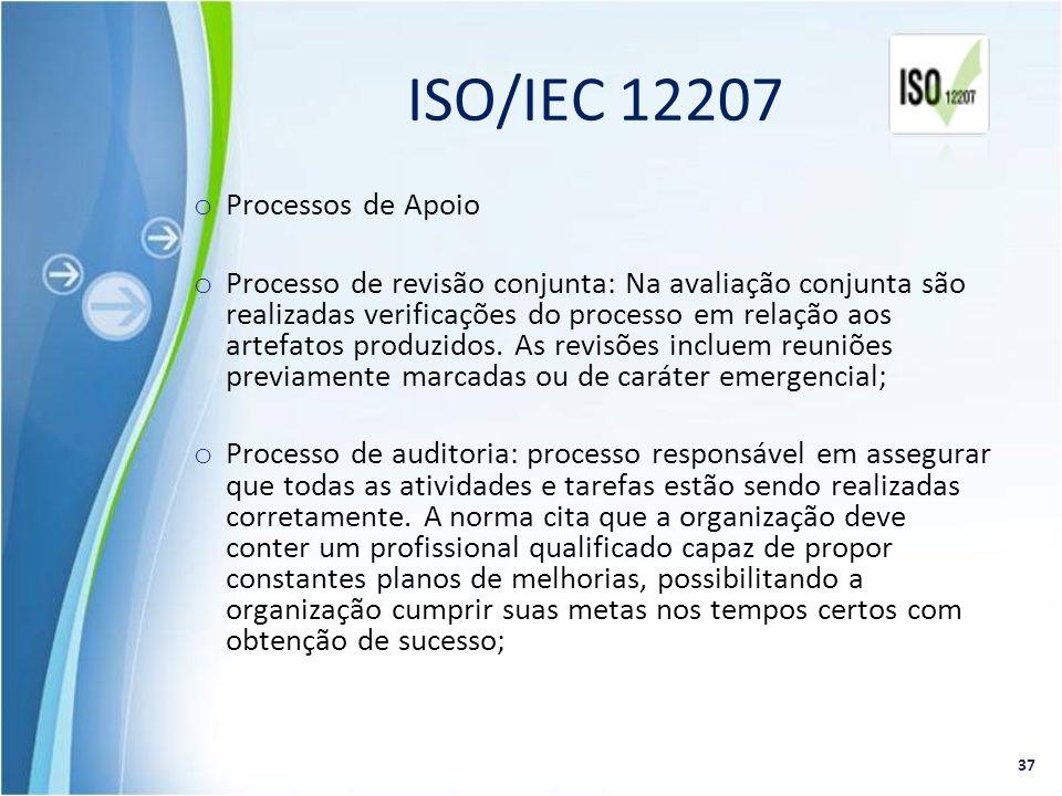 ISO/IEC 12207 Processos de Apoio