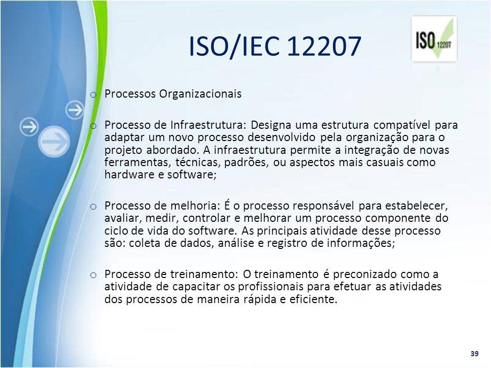 ISO/IEC 12207 Processos Organizacionais