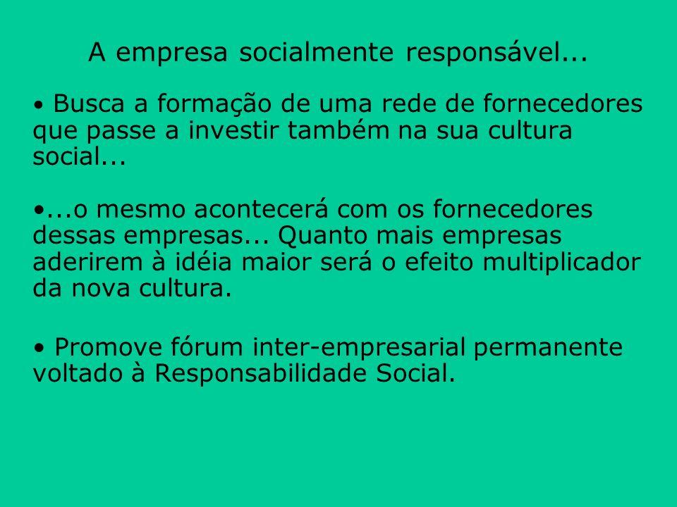 A empresa socialmente responsável...
