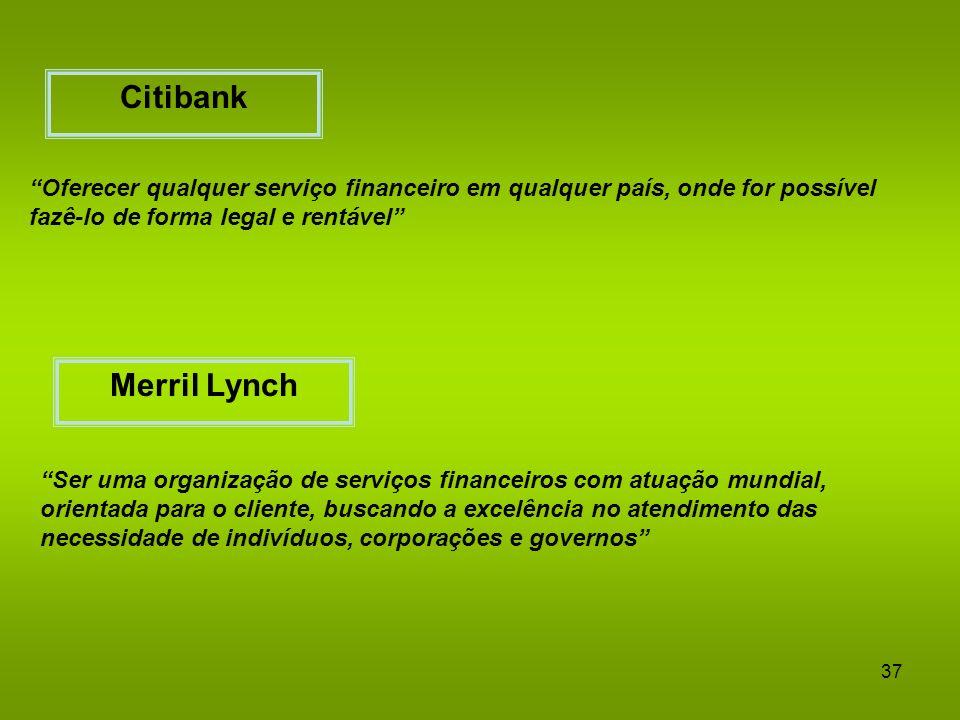 Citibank Oferecer qualquer serviço financeiro em qualquer país, onde for possível fazê-lo de forma legal e rentável