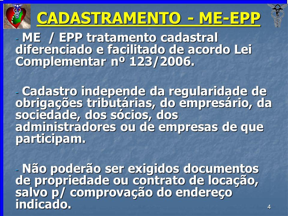 CADASTRAMENTO - ME-EPP
