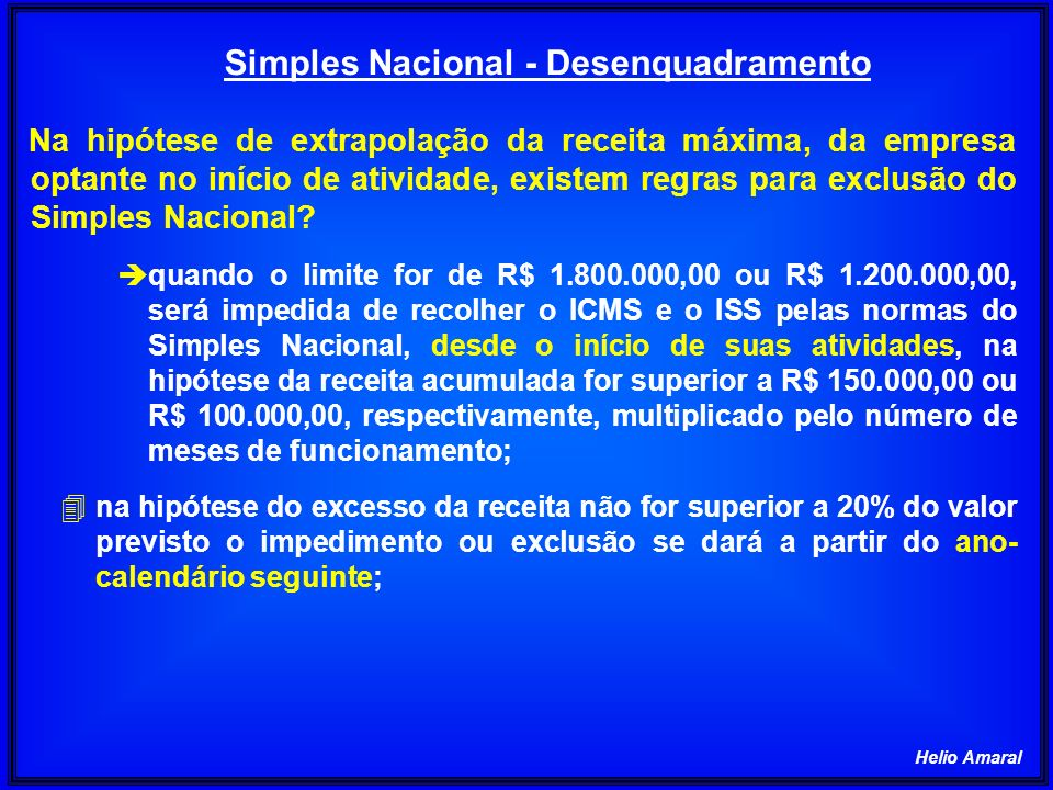Simples Nacional - Desenquadramento