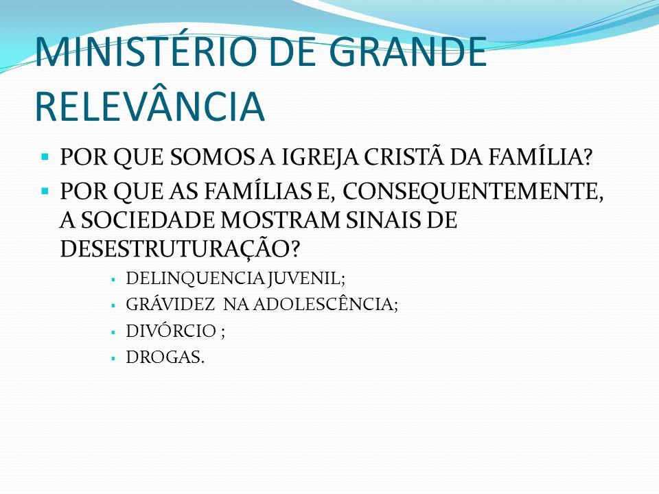 MINISTÉRIO DE GRANDE RELEVÂNCIA