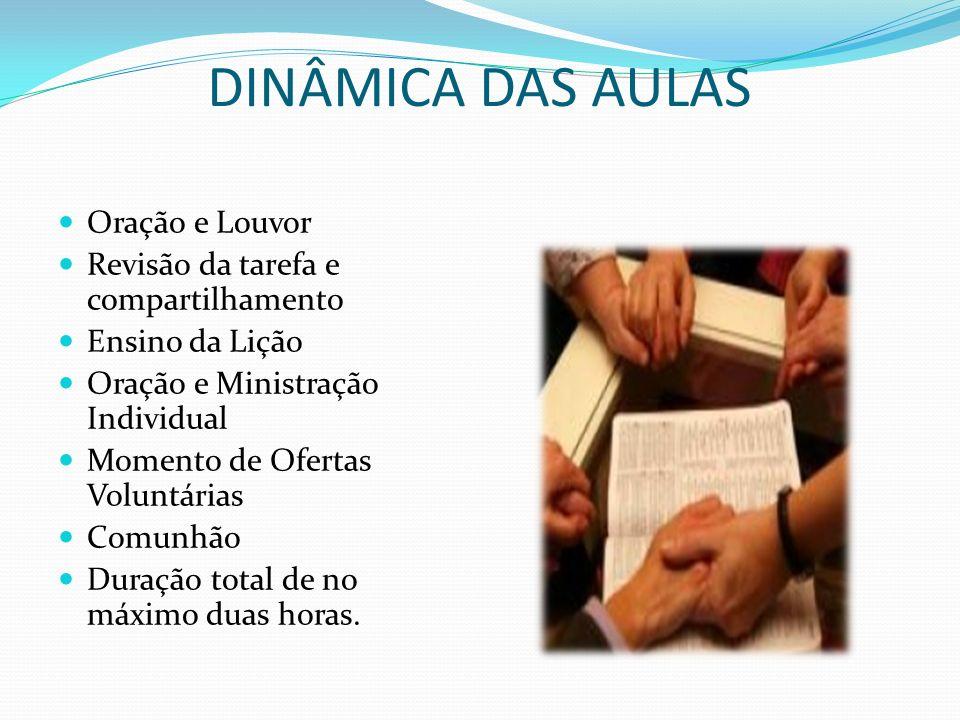 DINÂMICA DAS AULAS Oração e Louvor