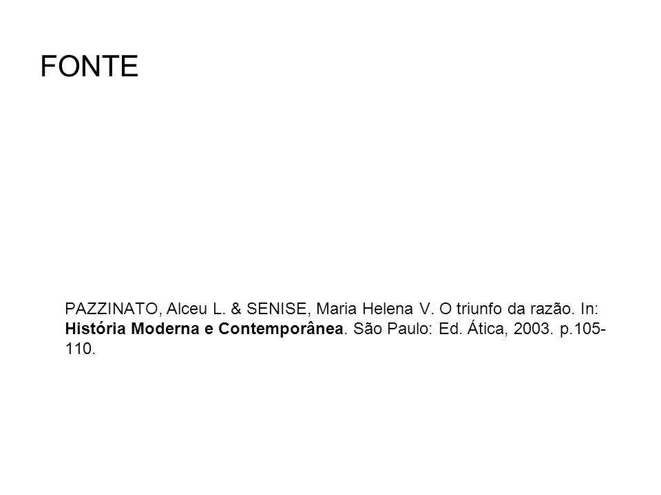FONTE PAZZINATO, Alceu L. & SENISE, Maria Helena V.