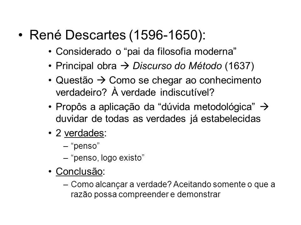 René Descartes (1596-1650): Considerado o pai da filosofia moderna