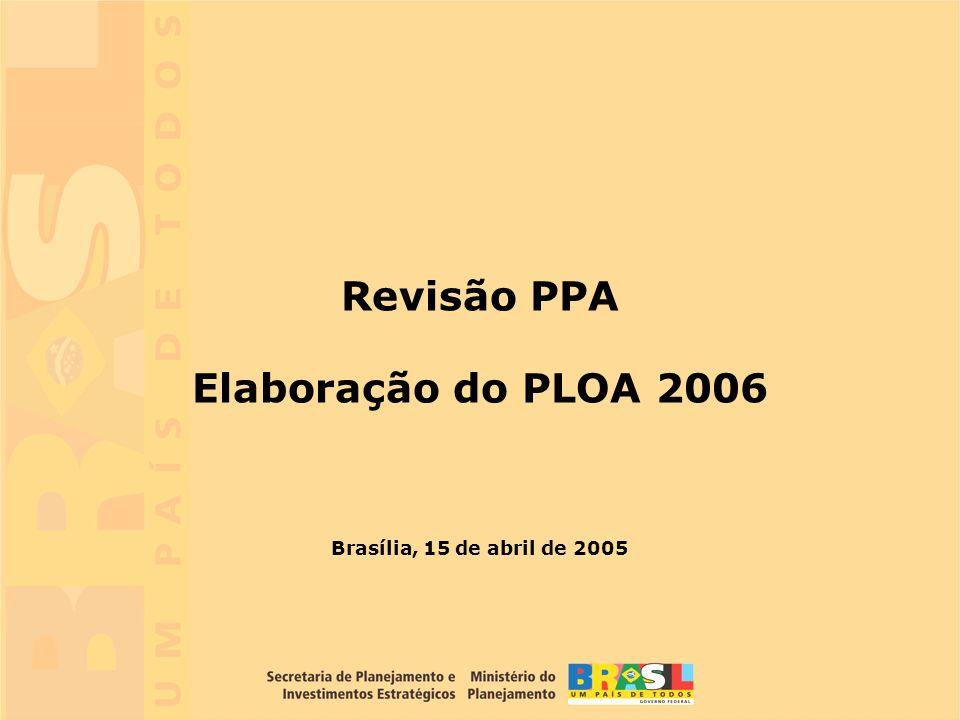 Revisão PPA Elaboração do PLOA 2006