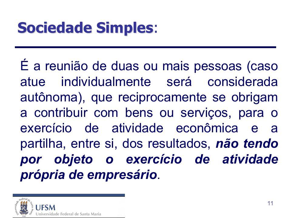 Sociedade Simples: