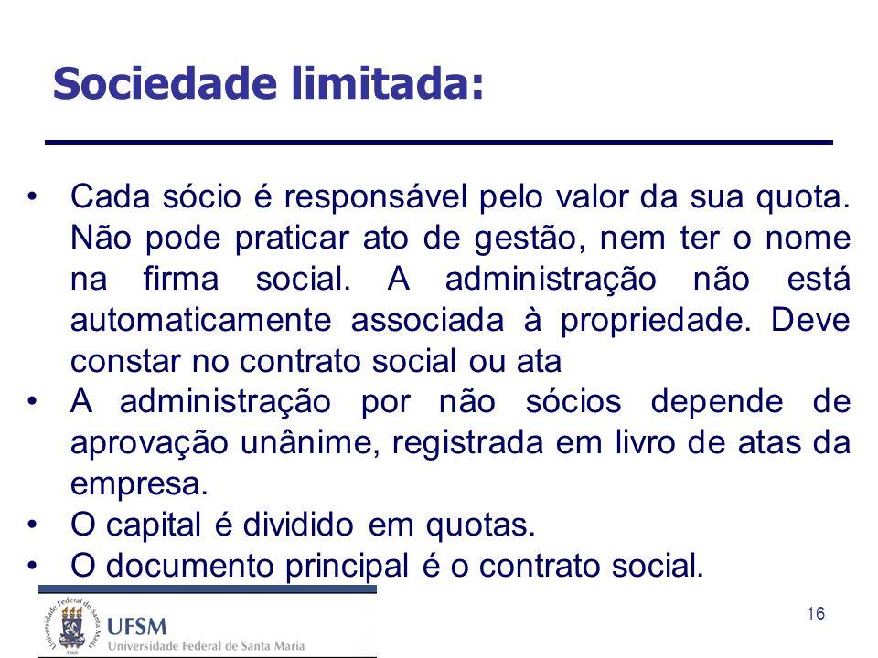 Sociedade limitada: