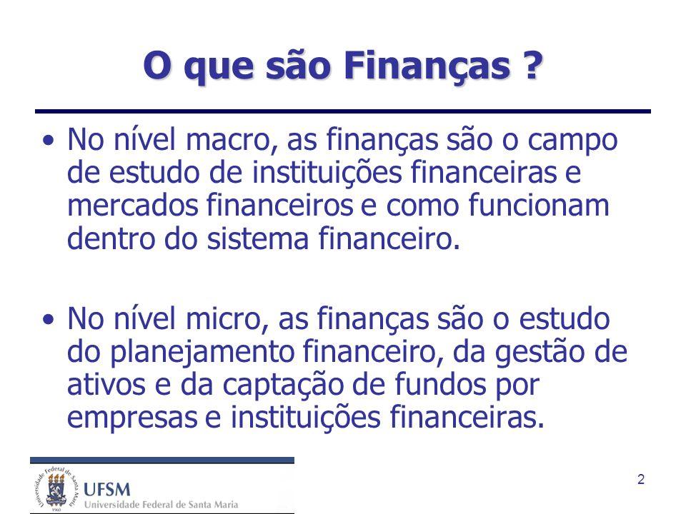 O que são Finanças