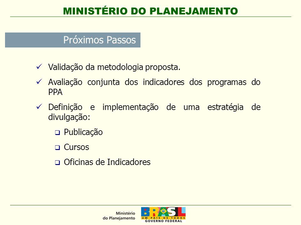 Próximos Passos Validação da metodologia proposta.