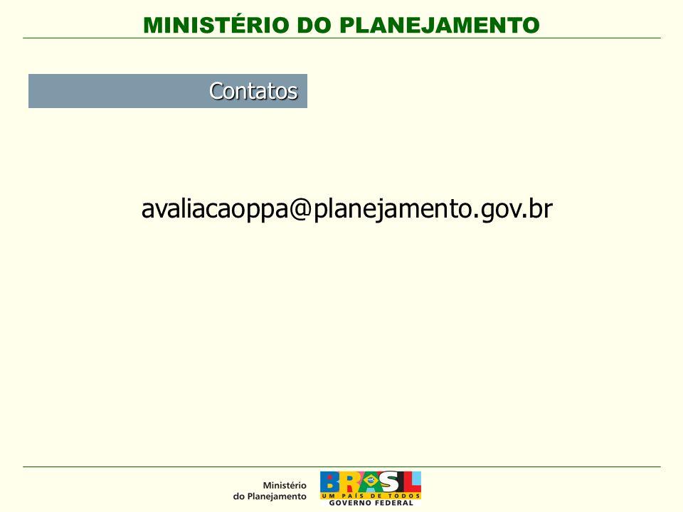 Contatos avaliacaoppa@planejamento.gov.br