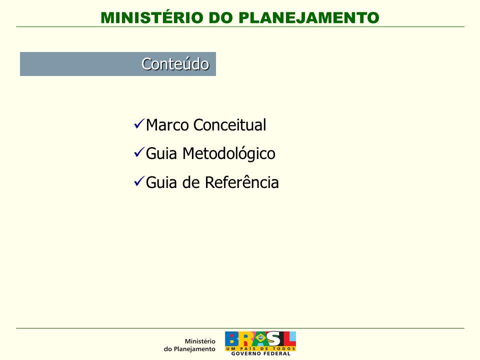 Conteúdo Marco Conceitual Guia Metodológico Guia de Referência