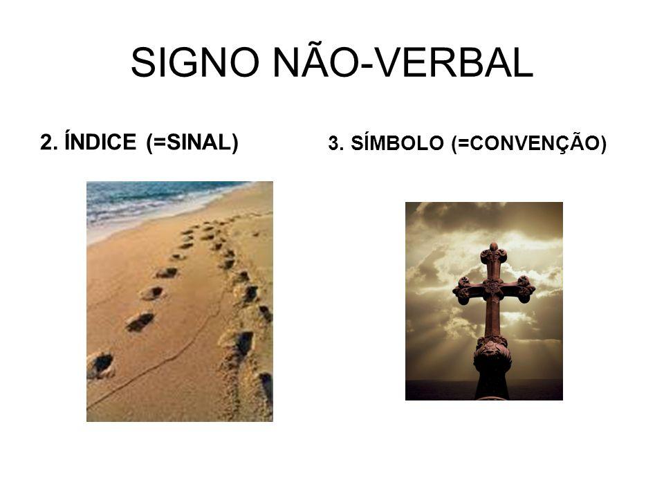 SIGNO NÃO-VERBAL 2. ÍNDICE (=SINAL) 3. SÍMBOLO (=CONVENÇÃO)