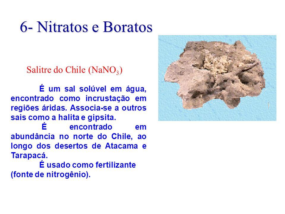 6- Nitratos e Boratos Salitre do Chile (NaNO3)