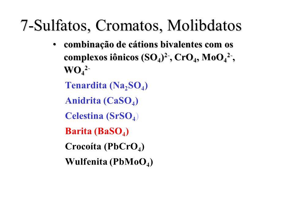 7-Sulfatos, Cromatos, Molibdatos