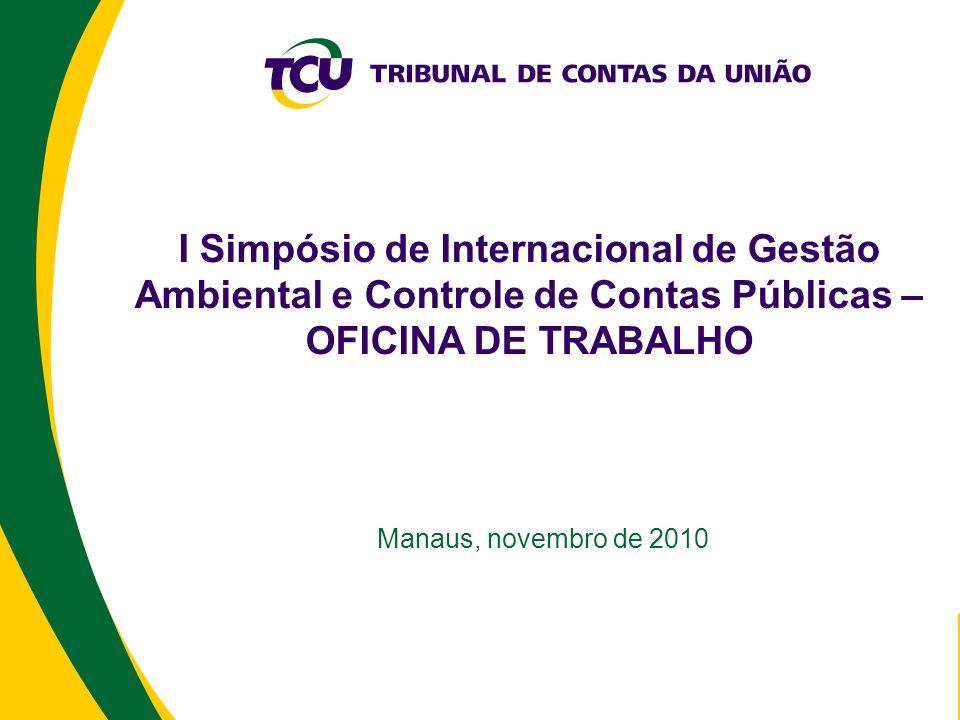 I Simpósio de Internacional de Gestão Ambiental e Controle de Contas Públicas – OFICINA DE TRABALHO