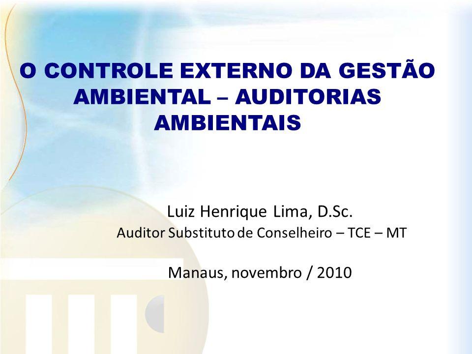 O CONTROLE EXTERNO DA GESTÃO AMBIENTAL – AUDITORIAS AMBIENTAIS