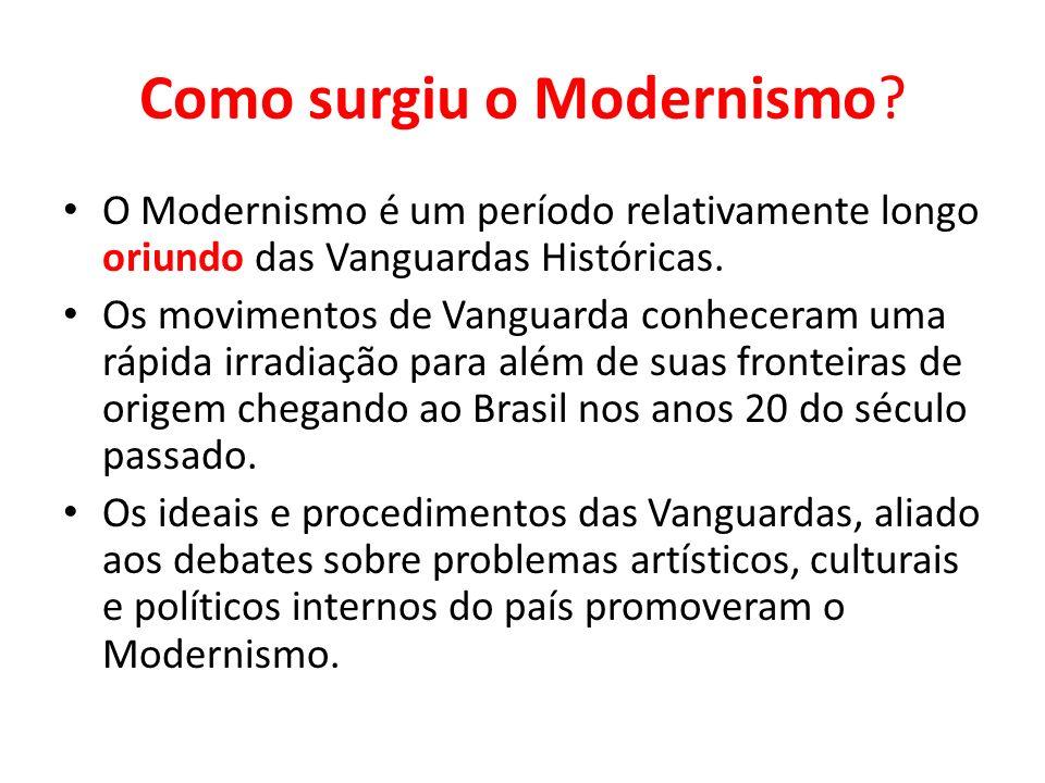 Como surgiu o Modernismo
