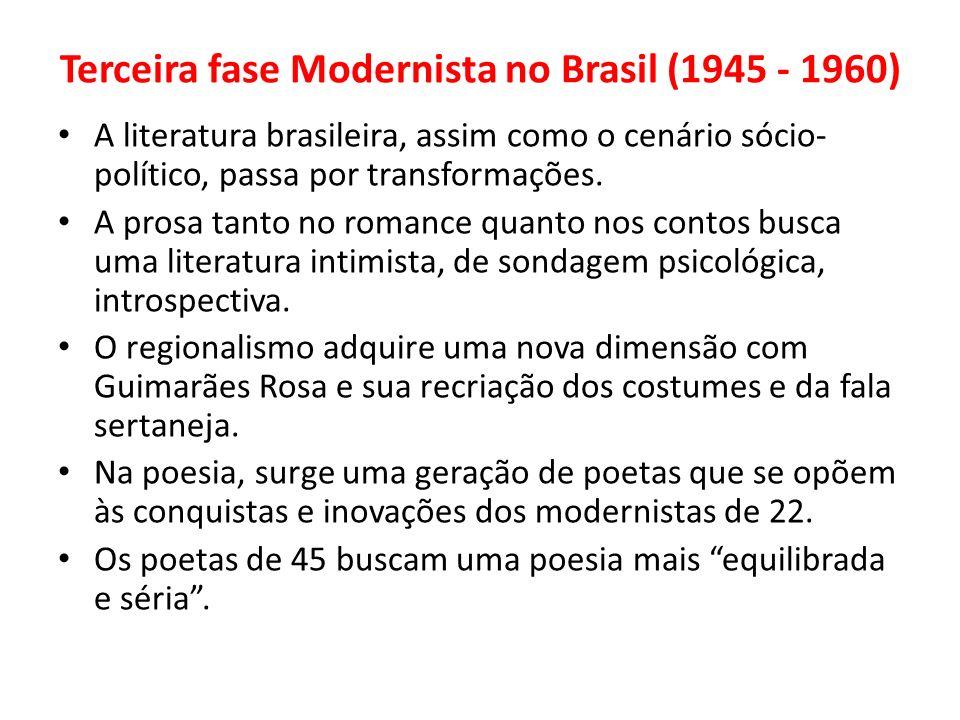 Terceira fase Modernista no Brasil (1945 - 1960)