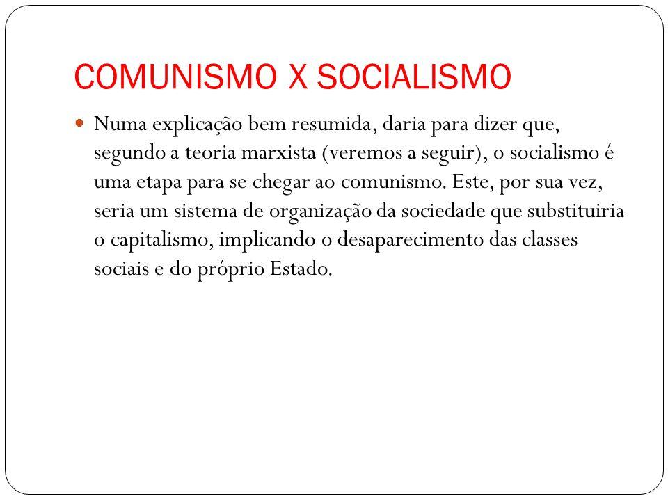COMUNISMO X SOCIALISMO