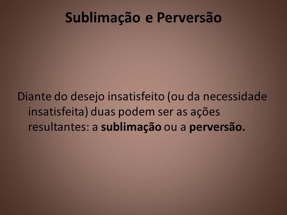 Sublimação e Perversão