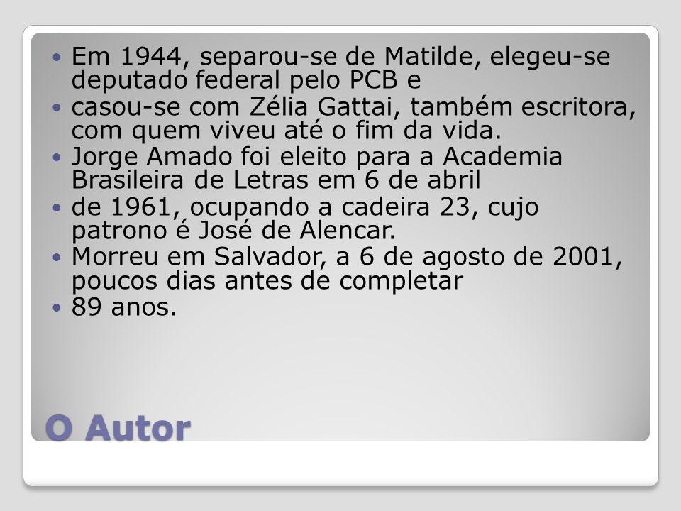 Em 1944, separou-se de Matilde, elegeu-se deputado federal pelo PCB e