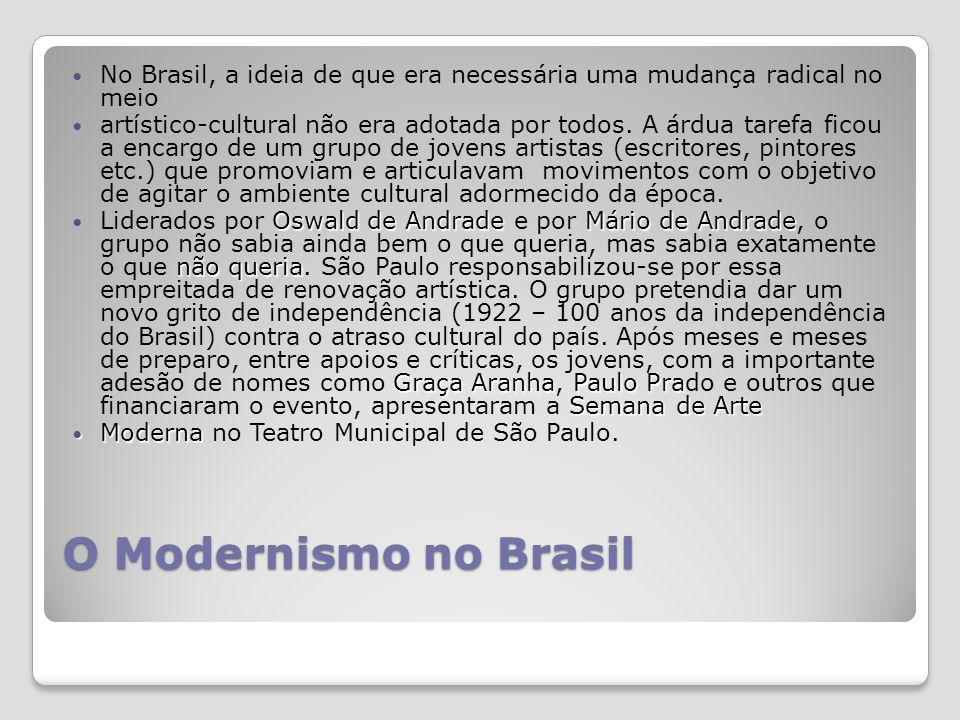 No Brasil, a ideia de que era necessária uma mudança radical no meio