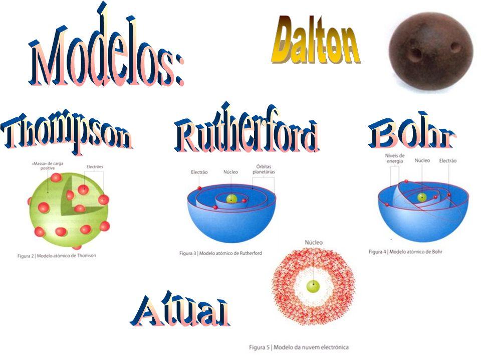 Modelos: Dalton Rutherford Thompson Bohr Atual