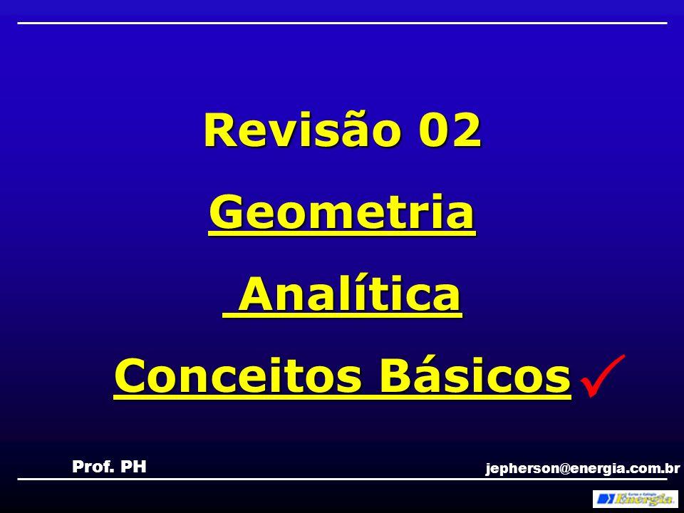  Revisão 02 Geometria Analítica Conceitos Básicos Prof. PH