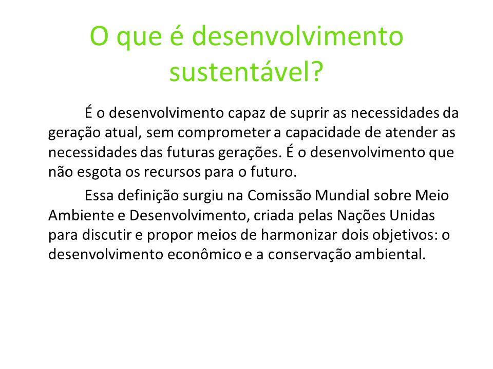 O que é desenvolvimento sustentável
