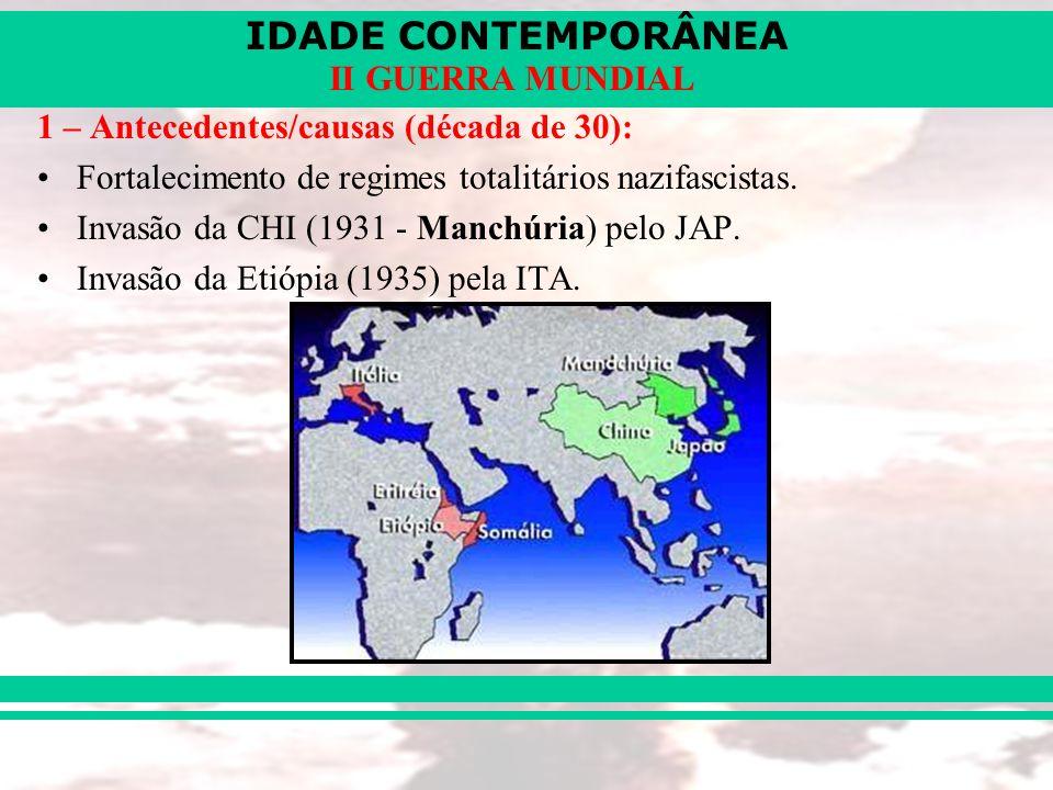 1 – Antecedentes/causas (década de 30):