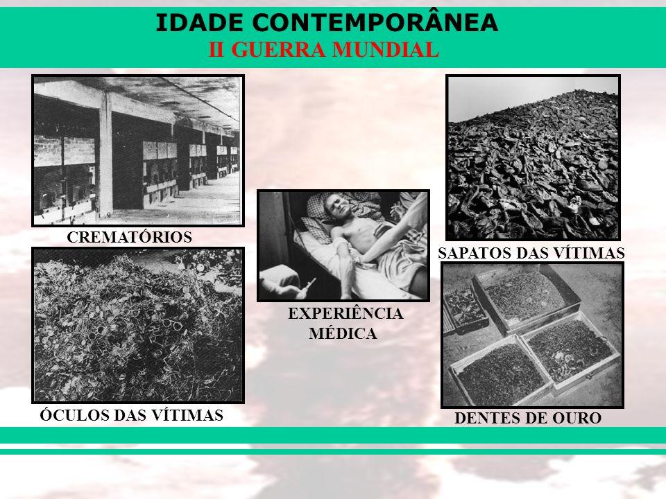 CREMATÓRIOS SAPATOS DAS VÍTIMAS EXPERIÊNCIA MÉDICA ÓCULOS DAS VÍTIMAS