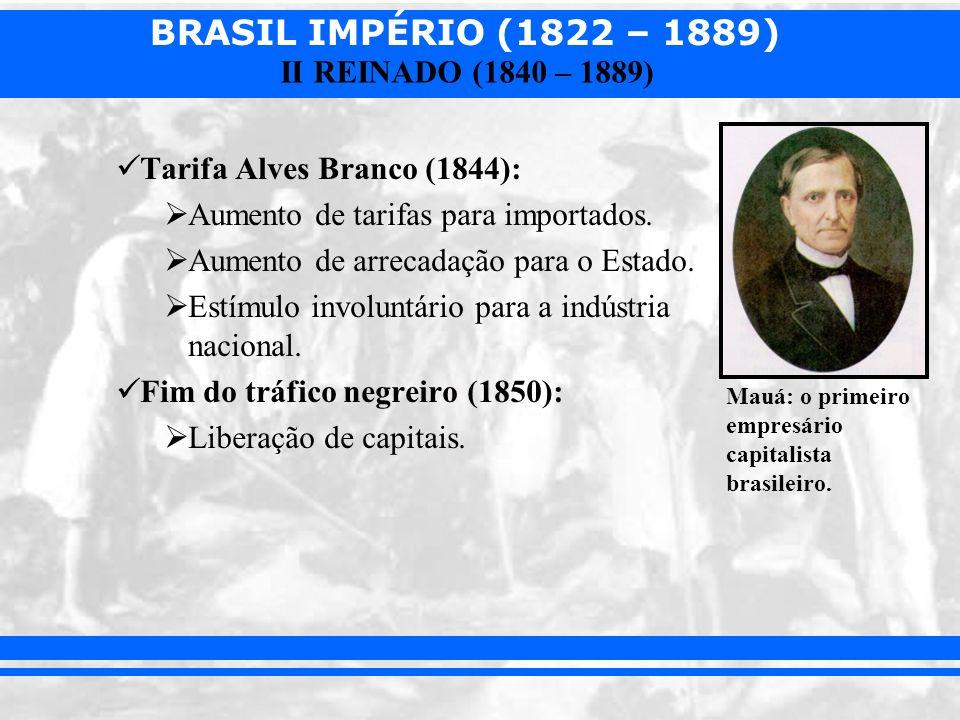 Tarifa Alves Branco (1844): Aumento de tarifas para importados.