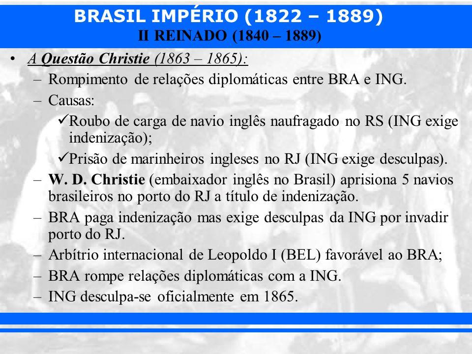 A Questão Christie (1863 – 1865):