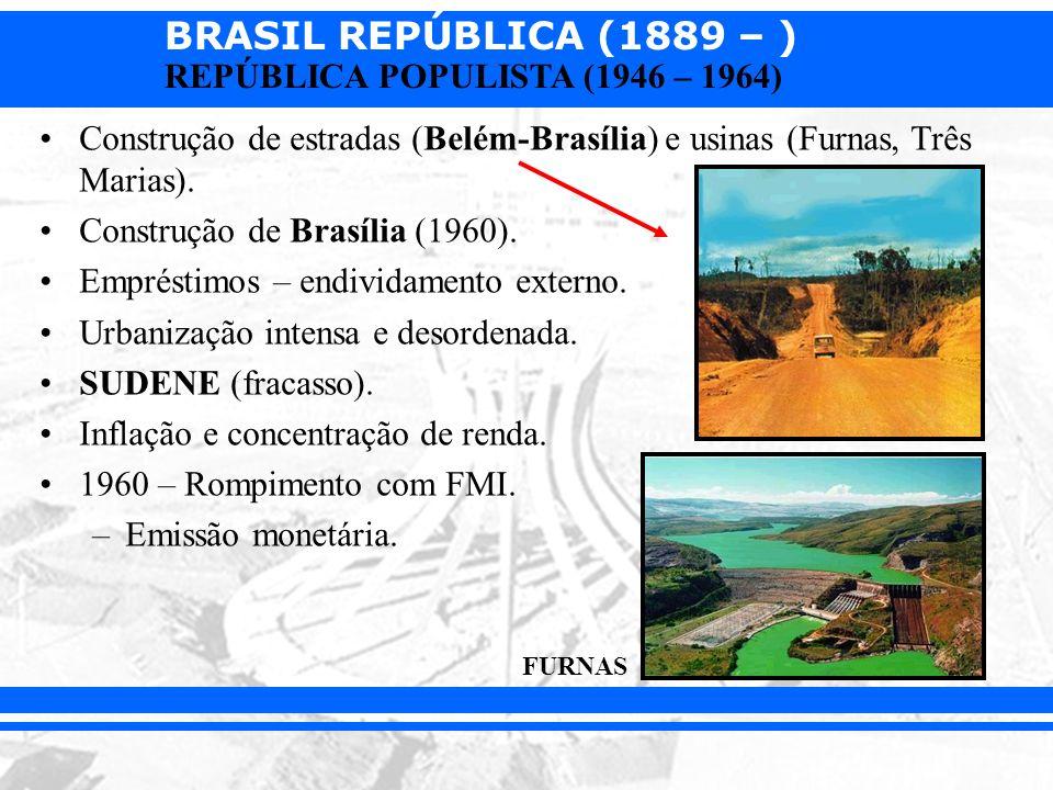 Construção de Brasília (1960). Empréstimos – endividamento externo.