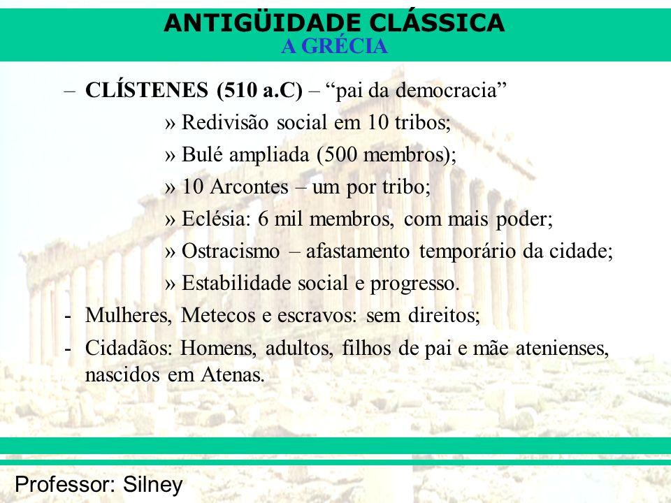 CLÍSTENES (510 a.C) – pai da democracia