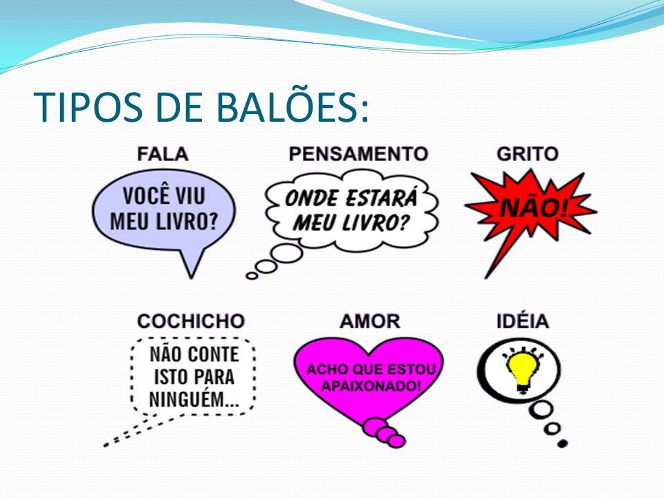 TIPOS DE BALÕES: