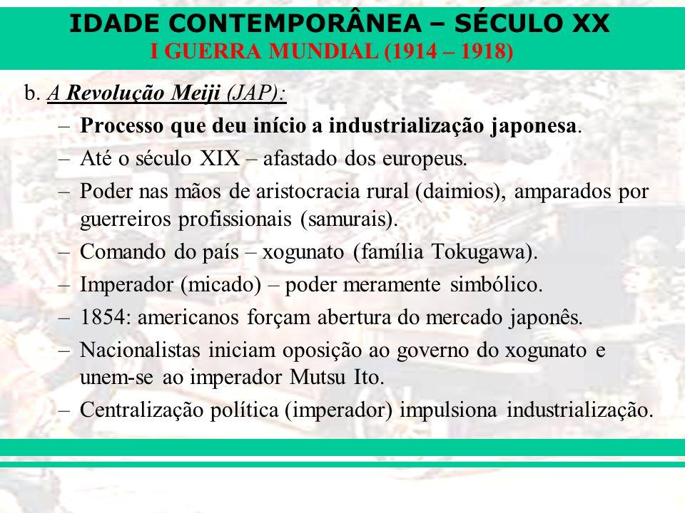 b. A Revolução Meiji (JAP):