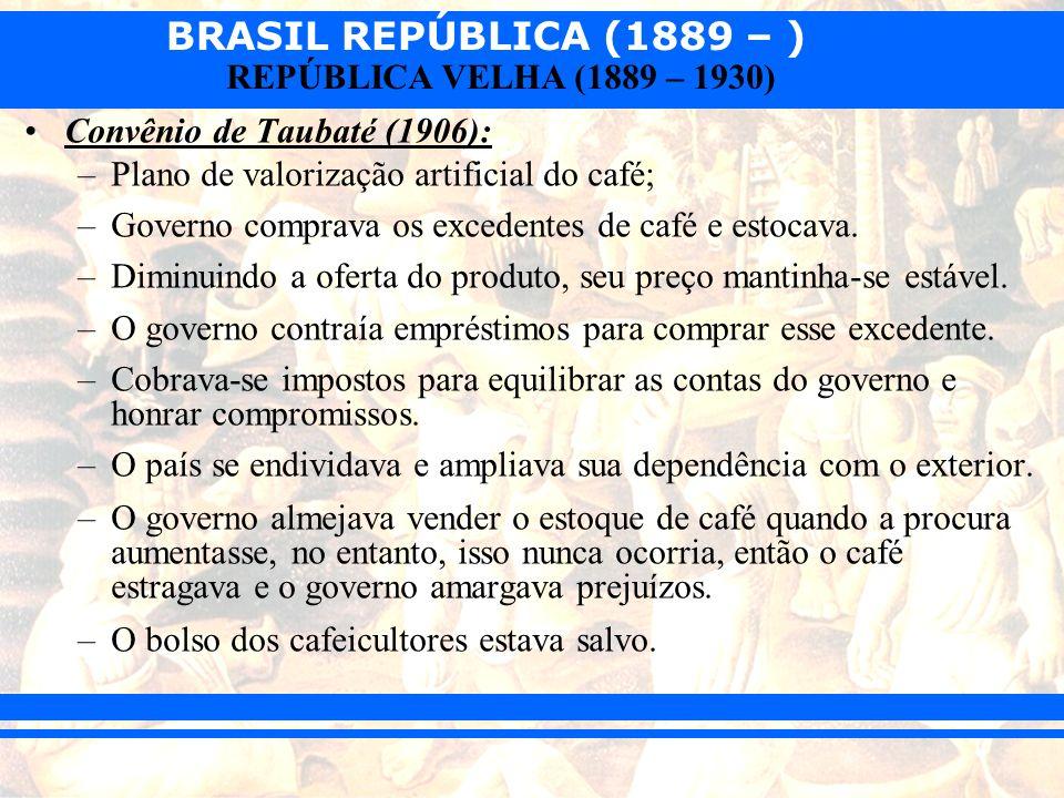 Convênio de Taubaté (1906):