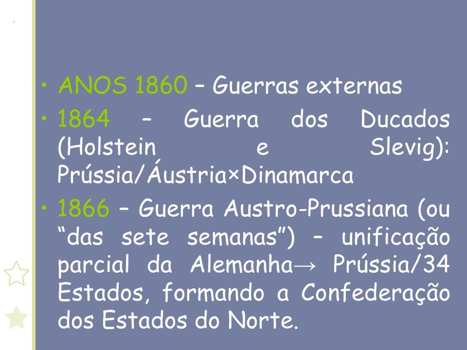 ANOS 1860 – Guerras externas