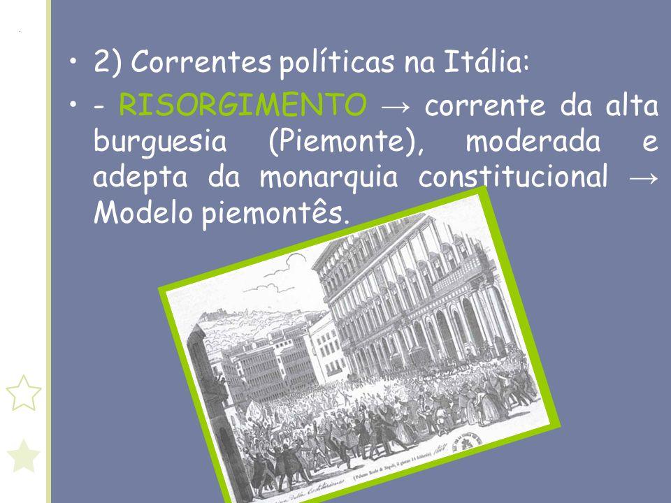 2) Correntes políticas na Itália: