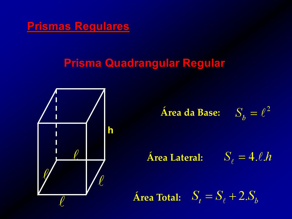 Prisma Quadrangular Regular