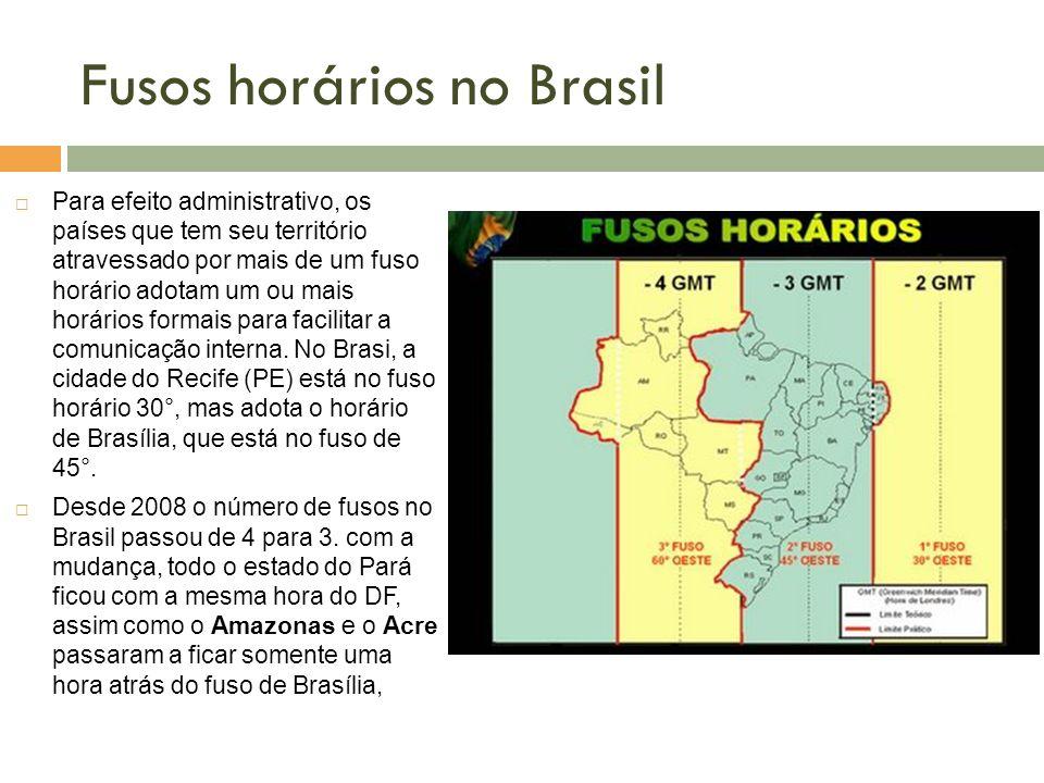Fusos horários no Brasil