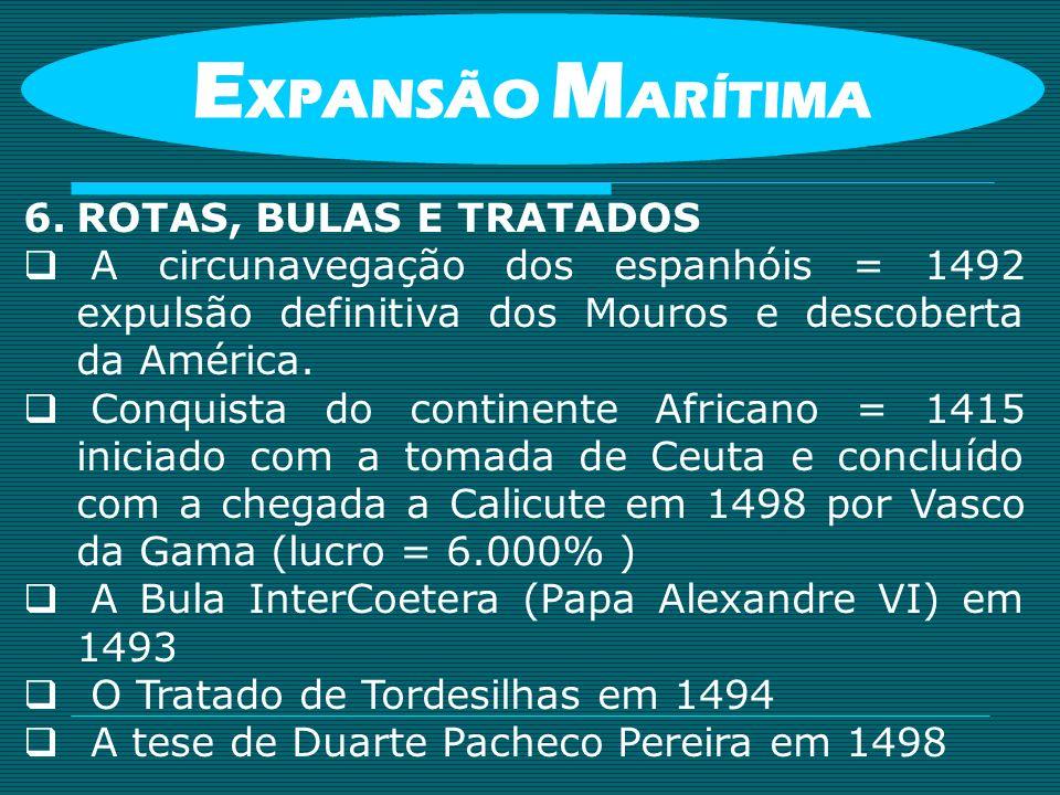 EXPANSÃO MARÍTIMA ROTAS, BULAS E TRATADOS