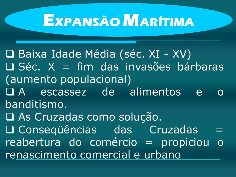 EXPANSÃO MARÍTIMA Baixa Idade Média (séc. XI - XV)