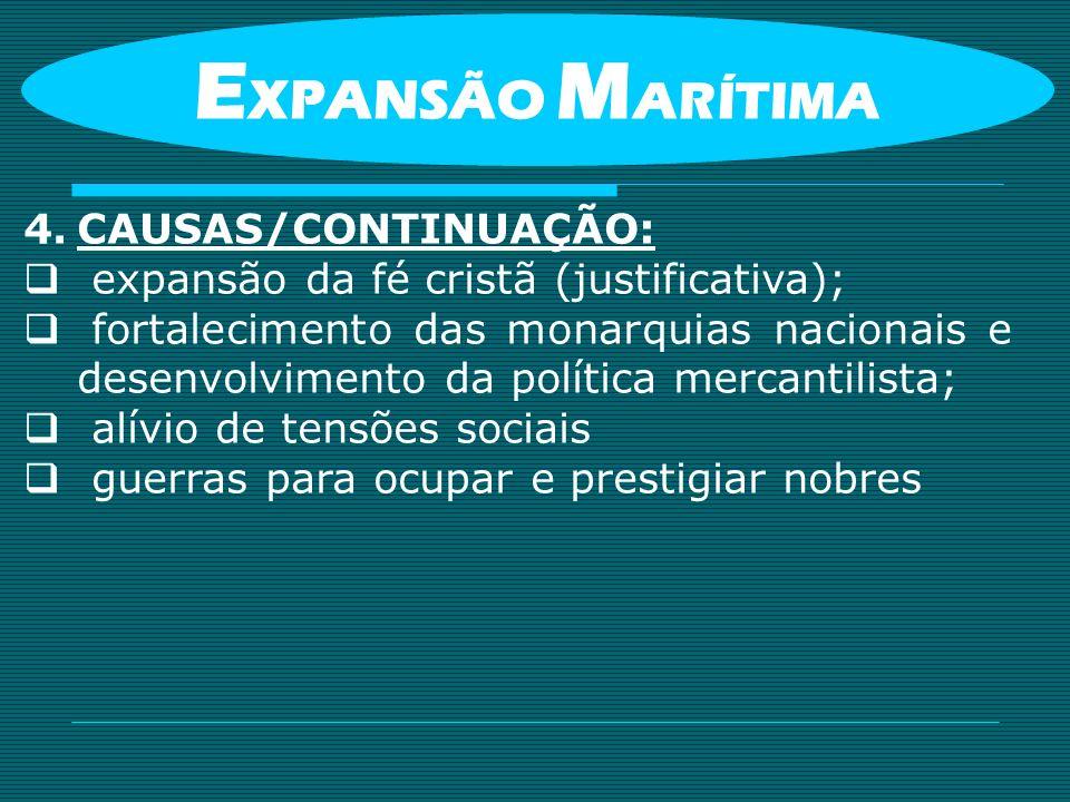 EXPANSÃO MARÍTIMA CAUSAS/CONTINUAÇÃO: