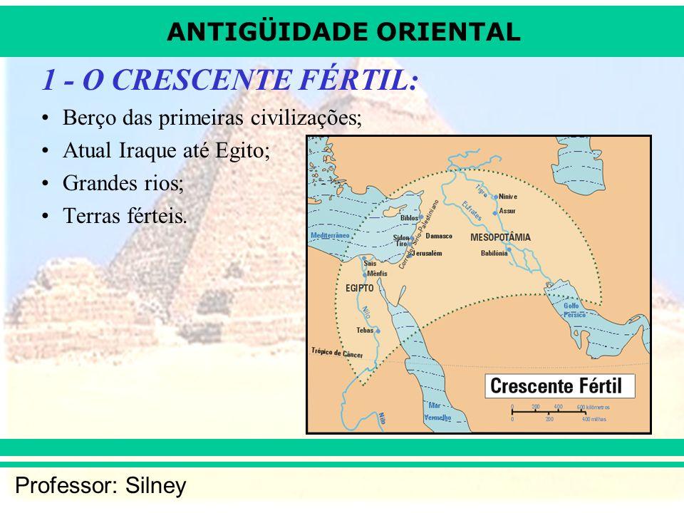 1 - O CRESCENTE FÉRTIL: Berço das primeiras civilizações;