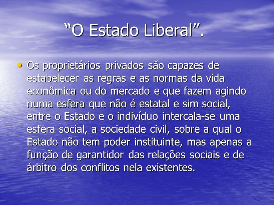 O Estado Liberal .